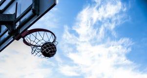 室外篮球细节 免版税库存照片
