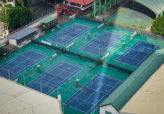 室外网球场在马尼拉,菲律宾 库存图片