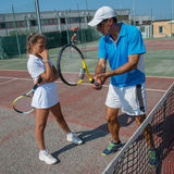 室外网球的学校 库存照片