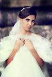 室外美丽的新娘 免版税库存图片