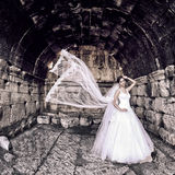 室外美丽的新娘 库存照片