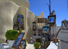 室外美术画廊圣托里尼 库存图片