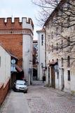 室外老的街道 库存图片