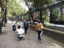 室外艺术展览在墨西哥城 库存图片