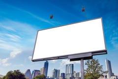 室外街道广告横幅广告牌大模型 免版税库存照片