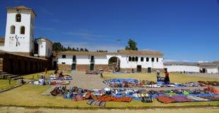 室外衣裳市场,秘鲁 库存照片