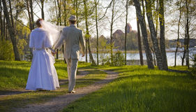 室外设置婚礼 免版税图库摄影