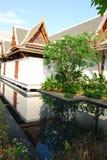 室外设计和庭院在泰国 库存图片