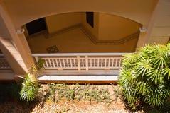 室外设计和庭院在泰国 免版税库存图片