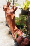 室外设计和庭院在泰国 库存照片