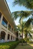 室外设计庭院在泰国 免版税库存图片
