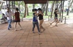 室外跳舞在胡志明 免版税库存照片