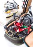 室外钓具和诱饵 免版税图库摄影