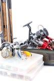 室外钓具和诱饵 免版税库存照片