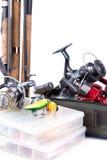 室外钓具和诱饵 免版税库存图片