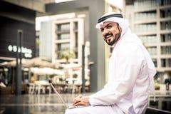 室外阿拉伯的商人 免版税库存照片