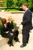 室外非正式的会议 免版税库存图片