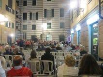 室外音乐会在意大利 免版税库存图片