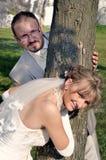 室外风景婚礼 免版税库存照片