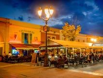 室外餐馆和酒吧 免版税图库摄影