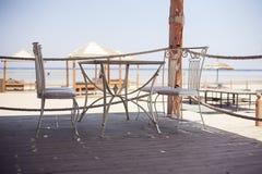室外餐馆咖啡露天咖啡馆 图库摄影