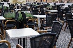室外餐馆大阳台 免版税库存图片