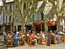 室外餐馆,普罗旺斯,法国 图库摄影