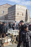室外鸟市场在伊斯坦布尔 免版税图库摄影