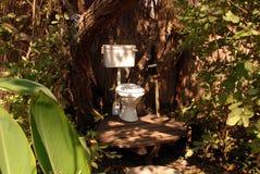 室外洗手间 免版税图库摄影