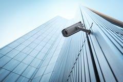 室外CCTV安全监控相机 库存照片