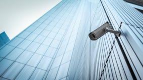 室外CCTV安全监控相机 免版税库存图片