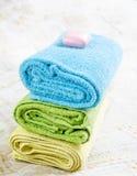 室细节。毛巾。 免版税库存图片