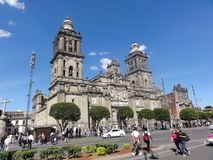 """宪法""""Zà ³ calo† –Ciudad de墨西哥-墨西哥的地方 免版税库存照片"""