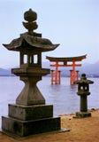 宫岛三重奏 库存照片