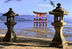 宫岛寺庙 图库摄影