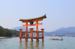宫岛海岛巡航小船广岛日本 免版税库存图片