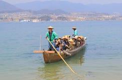 宫岛海岛巡航小船广岛日本 库存照片