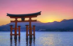 宫岛otorii 免版税图库摄影