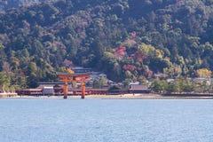 宫岛Torii  库存图片