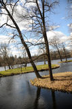 宫殿公园在Gatchina 免版税库存照片
