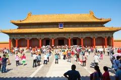 宫殿博物馆保存和谐场面霍尔;Baohe Dian ( 免版税库存图片