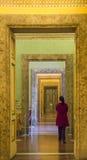 宫殿卡塞尔塔,意大利内部看法  库存图片