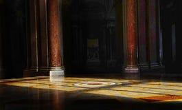宫殿卡塞尔塔,意大利内部看法  库存照片