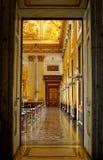 宫殿卡塞尔塔,意大利内部看法  免版税库存照片