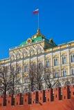总统宫殿在克里姆林宫莫斯科(俄罗斯) 免版税库存照片
