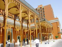 宫殿在城市 库存照片