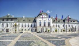 总统宫殿在布拉索夫,斯洛伐克 库存图片