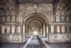 宫殿在德里红堡 免版税库存照片