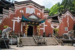 宫殿在恩施Tusi皇家古城在湖北中国 免版税图库摄影