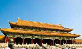 宫殿在故宫 库存照片